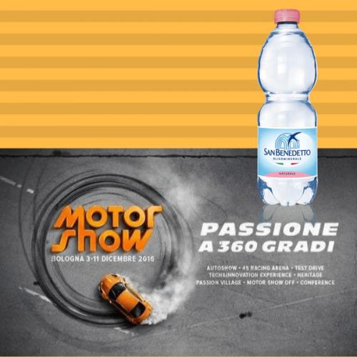 San Benedetto è l'acqua ufficiale del Motor Show