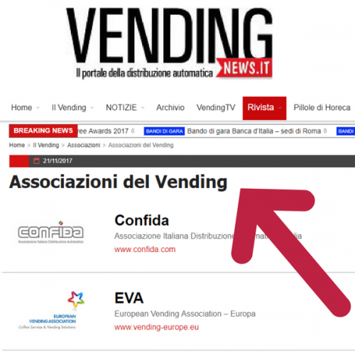 Aggiornata la lista delle Associazioni del Vending