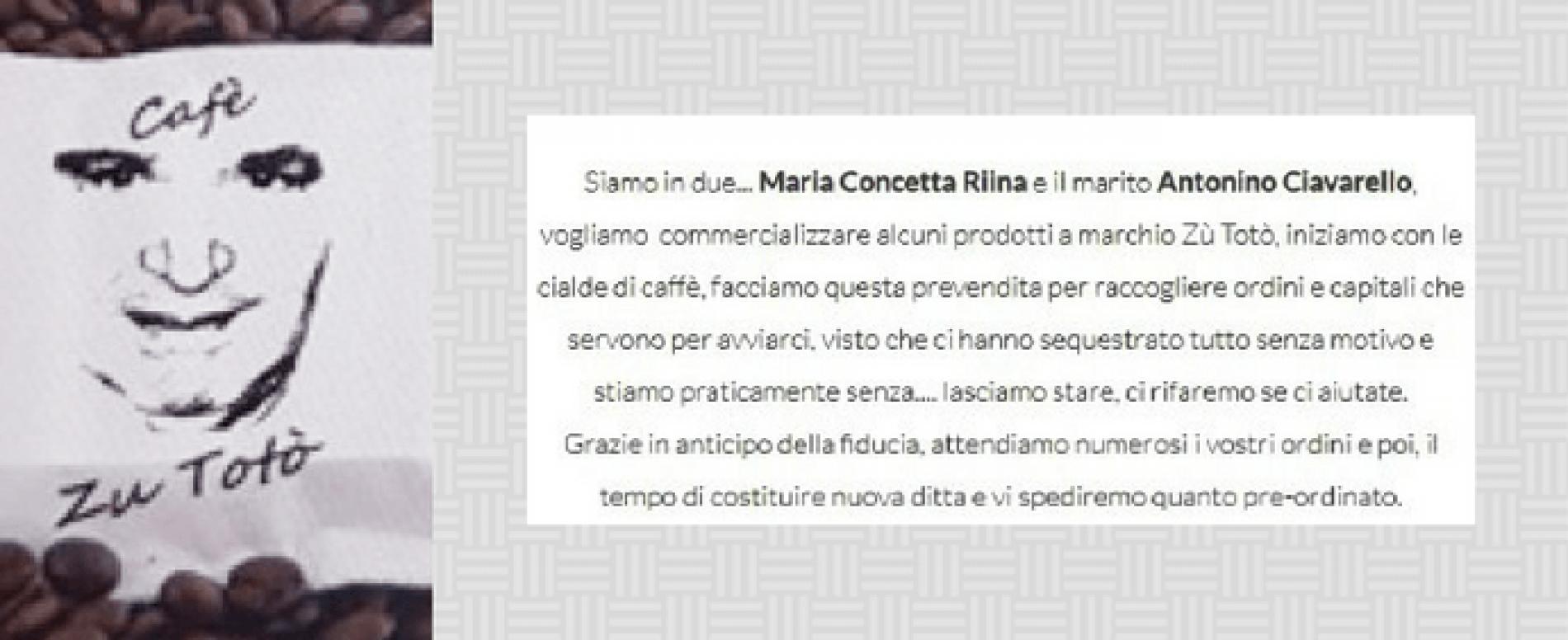 """Cialde di caffè """"Zu Totò"""" (Riina). Sarà vero?"""