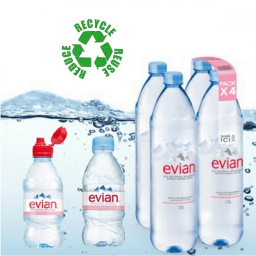 Per Evian un progetto strutturato per il riciclo della plastica