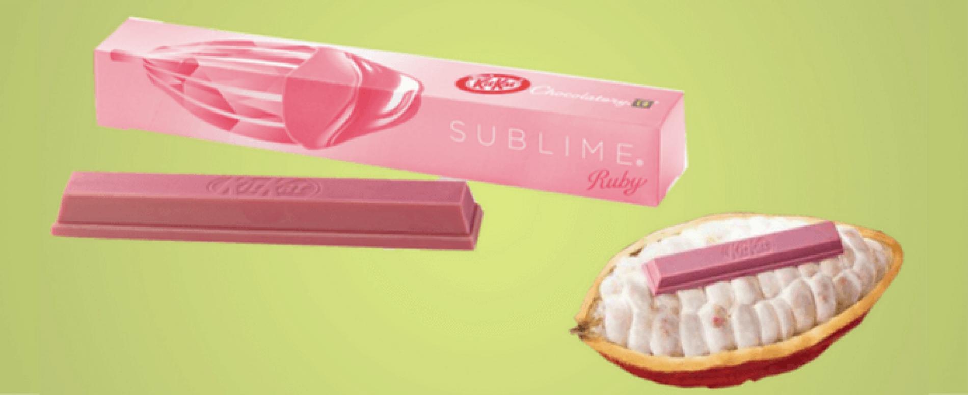 Con il KitKat rosa Nestlé rilancia il cioccolato premium
