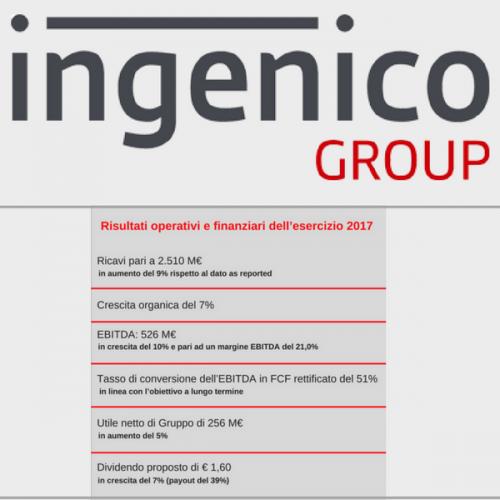 Ingenico Group centra gli obiettivi 2017 e costruisce un solido 2018