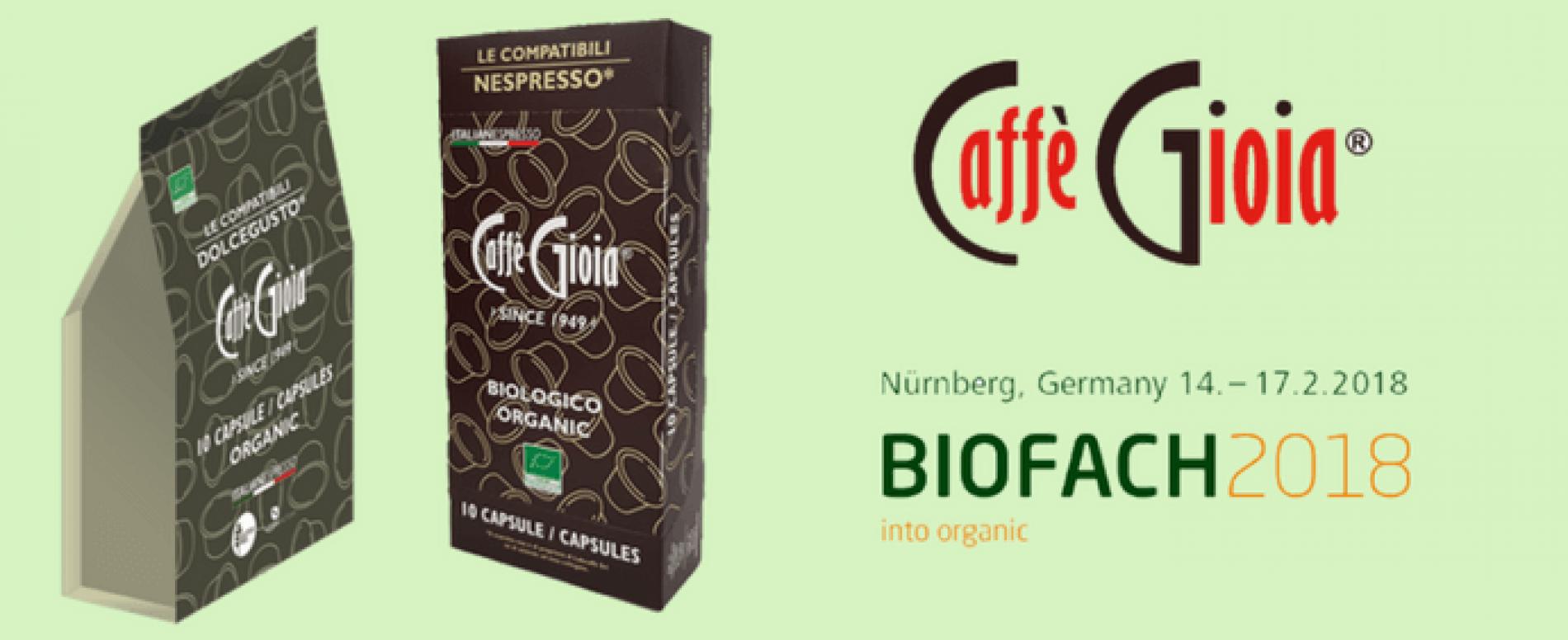 Caffè Gioia al Biofach con la novità Dolce Gusto Organic