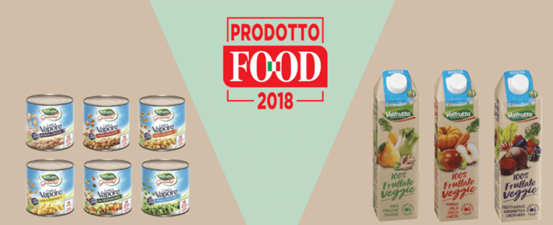 Due referenze Valfrutta si aggiudicano il Premio Prodotto Food