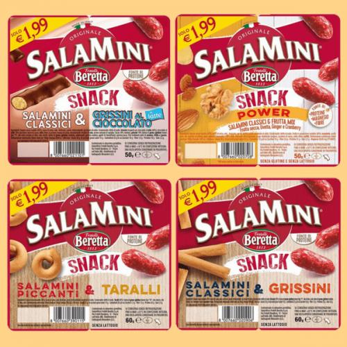 La nuova gamma 2018 dei Salamini Snack di Beretta