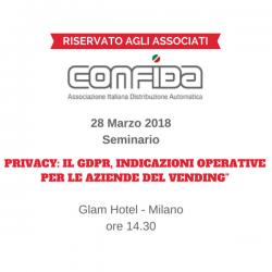 CONFIDA: il 28 marzo un seminario sul nuovo Regolamento sulla privacy