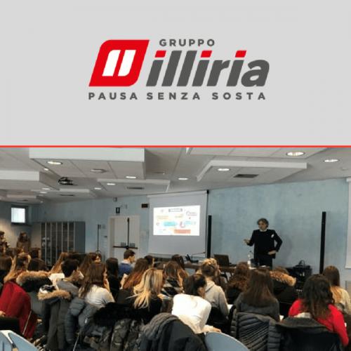 Un gruppo di studenti in visita alla sede friulana di Gruppo Illiria