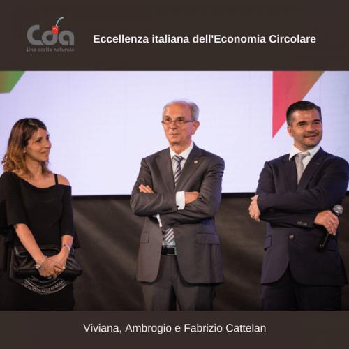 CDA Cattelan premiata Eccellenza italiana dell'Economia Circolare