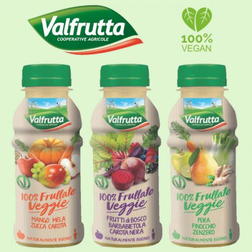 Valfrutta 100% Frullato Veggie anche nel monodose 250 ml in pet