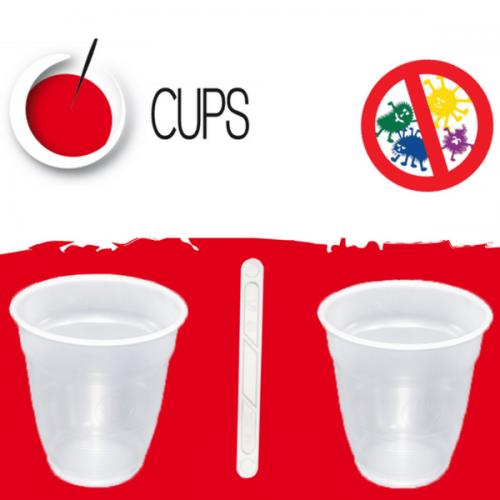 Dall'italiana Cups srl bicchieri e palette antibatterici per il Vending