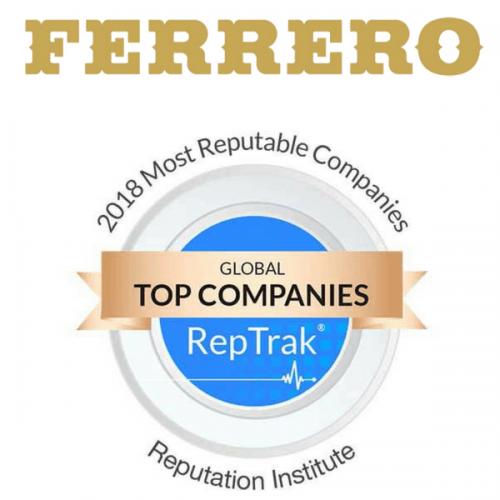 Ancora una volta Ferrero premiata con il Reputation Award 2018