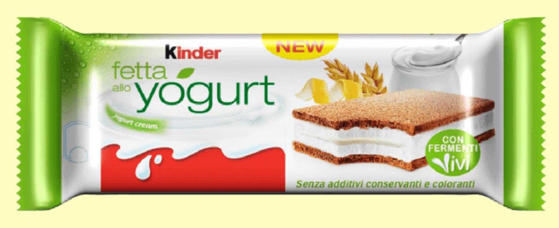 Da Ferrero la nuova Kinder Fetta allo Yogurt