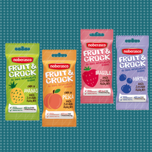 Fruit & Crock, uno snack croccante e 100% naturale di Noberasco