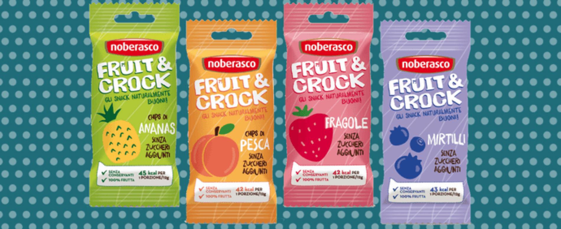 Fruit & Crock, uno snack croccante e 100% naturale di Noberasco