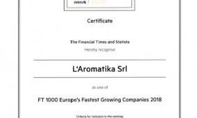 Importante riconoscimento dal Financial Times per Caffè Borbone – L'Aromatika