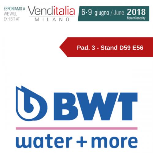 Venditalia 2018. Le novità di BWT WATER+MORE