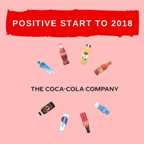 Per Coca-Cola risultati in crescita nel primo trimestre 2018