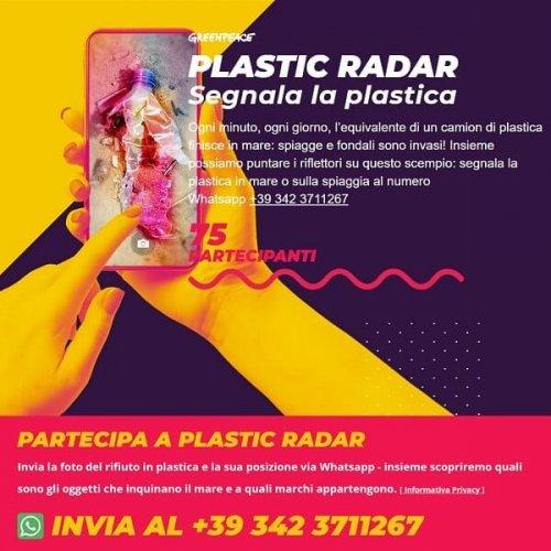 Plastic Radar: segnala la plastica a Greenpeace con Whatsapp