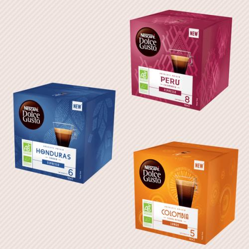 Nescafé® Dolce Gusto® lancia la nuova gamma di caffè bio monorigine