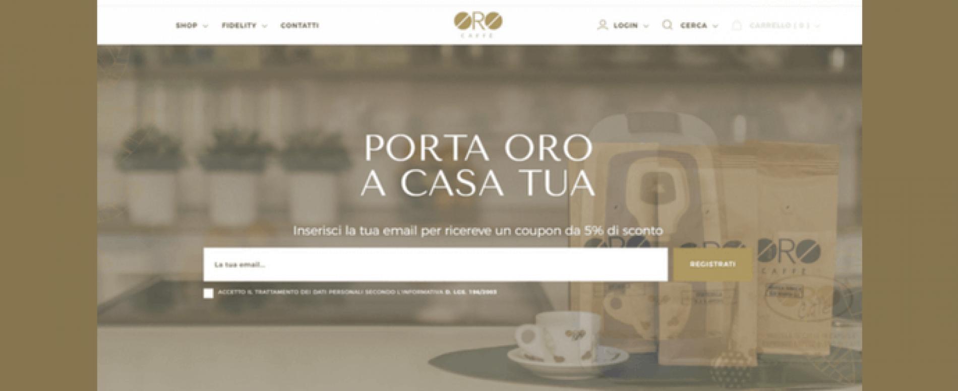 32cc078f8f2a Nasce il nuovo shop online di Oro Caffè