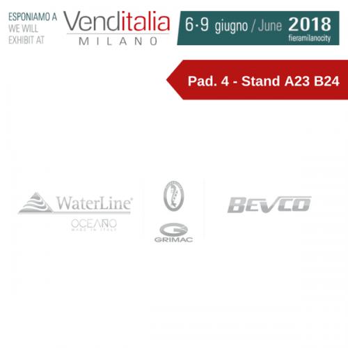Grimac e Fiorenzato nel gruppo Bevco e Waterline: tutte le novità a Venditalia 2018