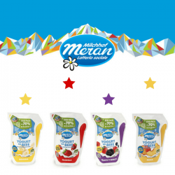 Latteria Merano lancia lo yogurt da bere in eco pack: 70% di plastica in meno
