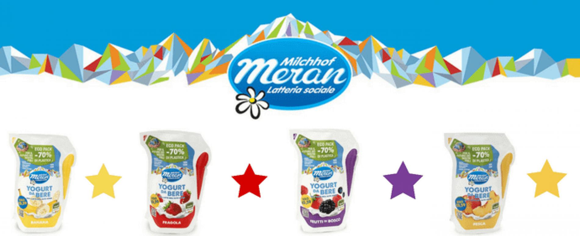 Latteria Merano lancia lo yogurt da bere in eco pack: 70% di plastica in meno