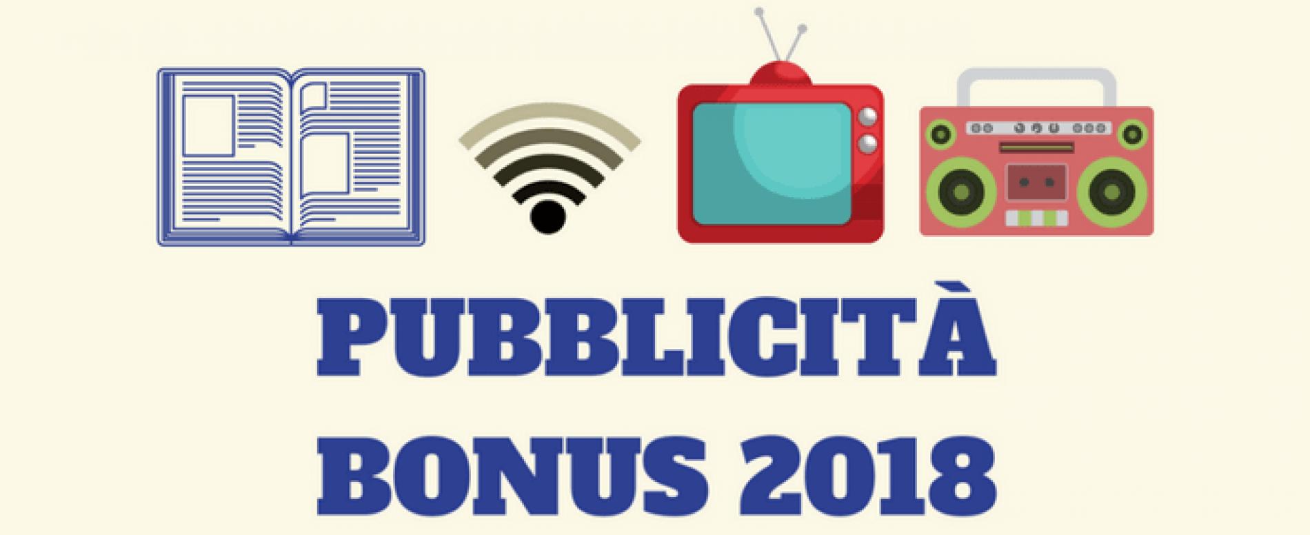 In G.U. il Bonus 2018 per gli investimenti pubblicitari incrementali