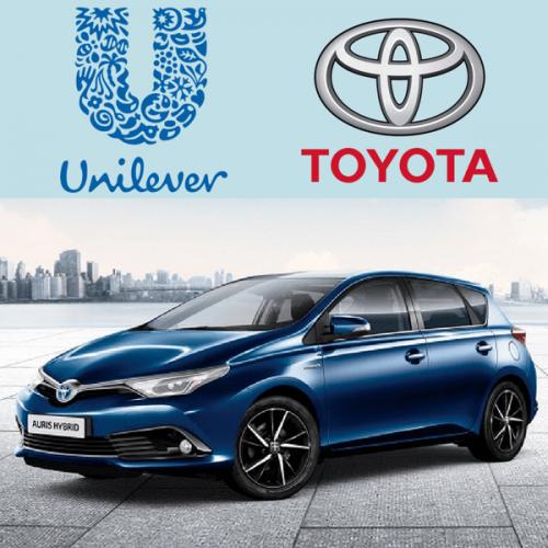 Unilever Italia e Toyota insieme per la prima flotta aziendale di auto ibride