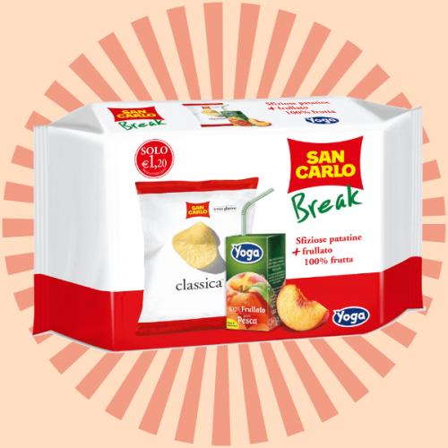 San Carlo Break: il nuovo snack per la merenda perfetta