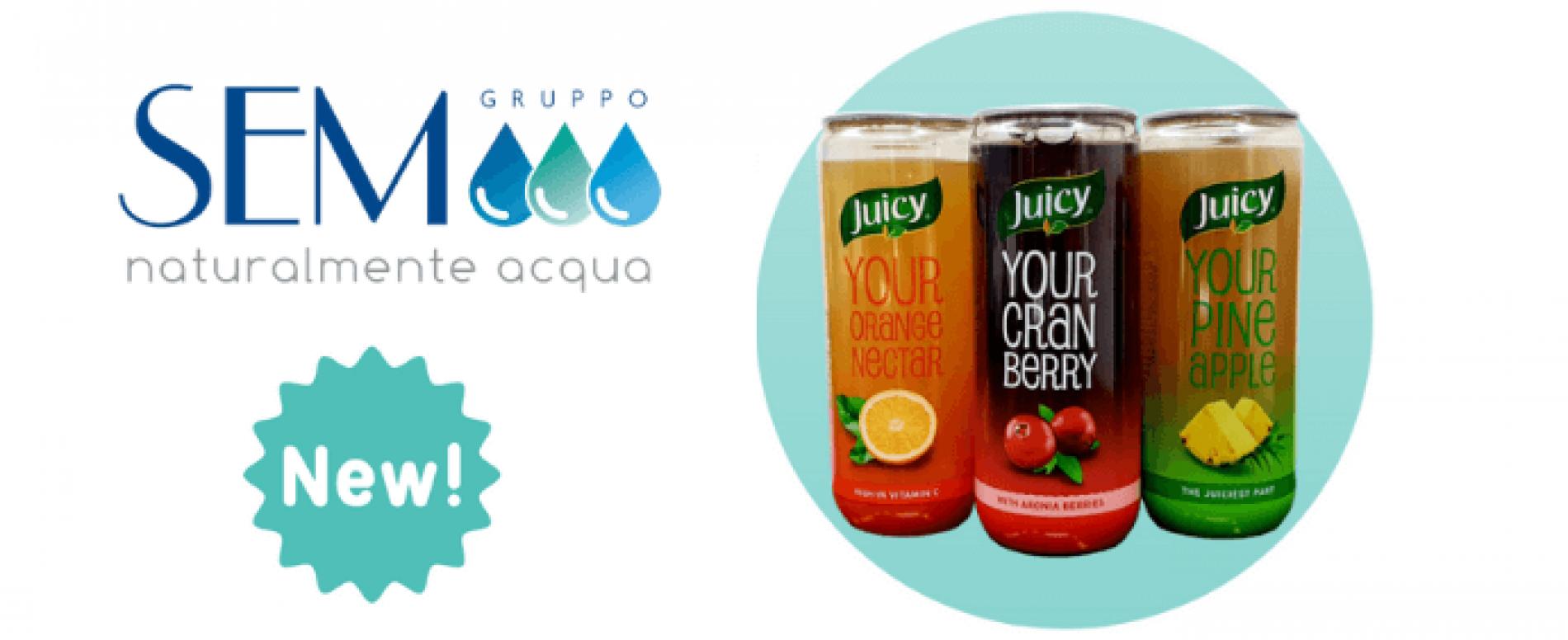 Con Gruppo SEM parte la distribuzione dei succhi Juicy in Italia