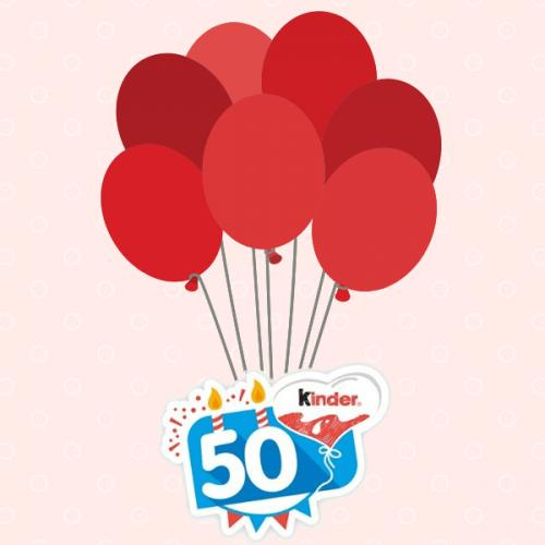 Kinder compie 50 anni: festa allo stabilimento e regali per tutti