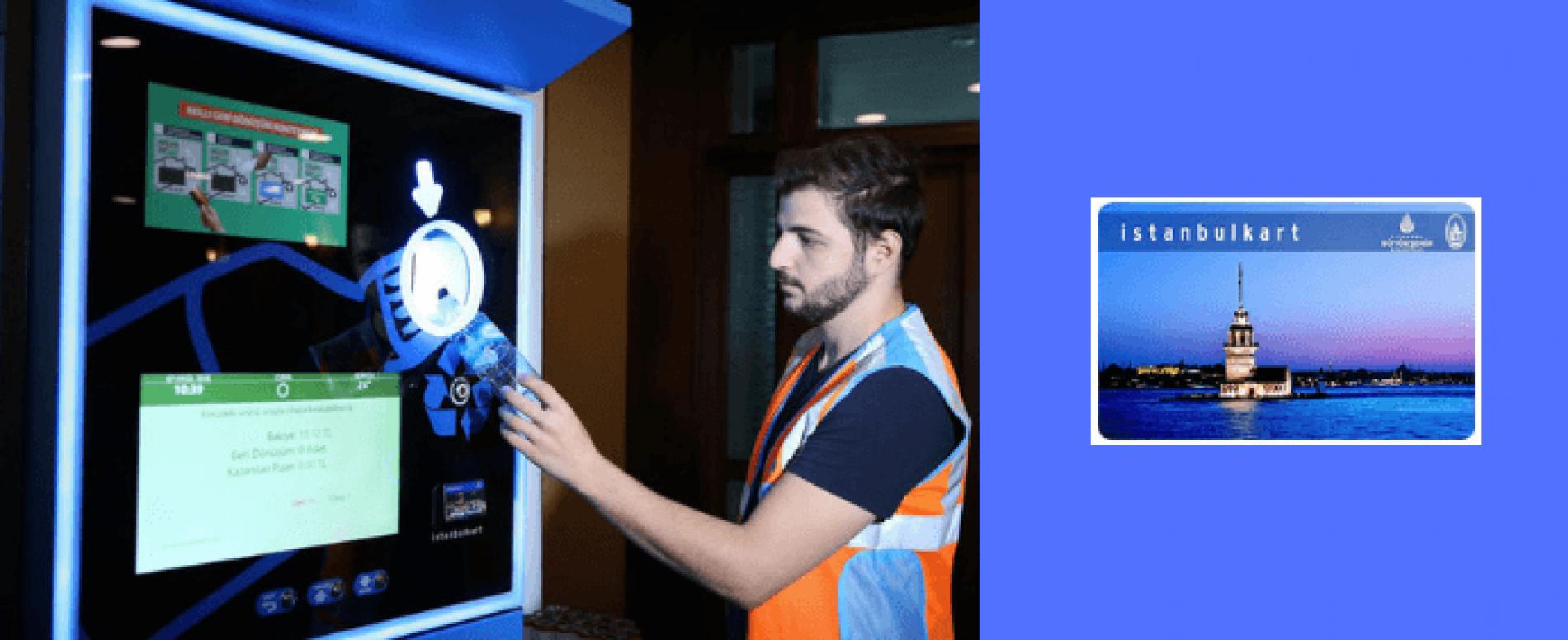 A Istanbul più ricicli al distributore automatico più viaggi