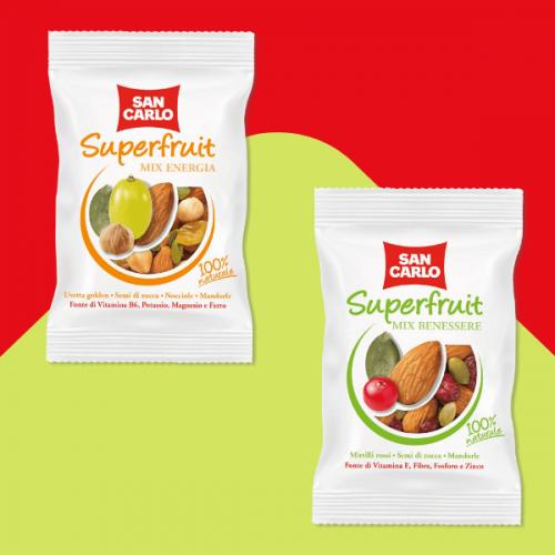 San Carlo diversifica la sua offerta con la nuova linea Superfruit