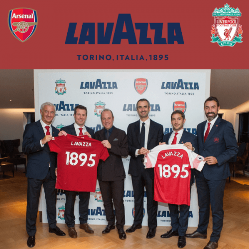 "Lavazza diventa ""official coffee"" dell'Arsenal F.C. e del Liverpool F.C."