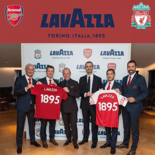 """Lavazza diventa """"official coffee"""" dell'Arsenal F.C. e del Liverpool F.C."""