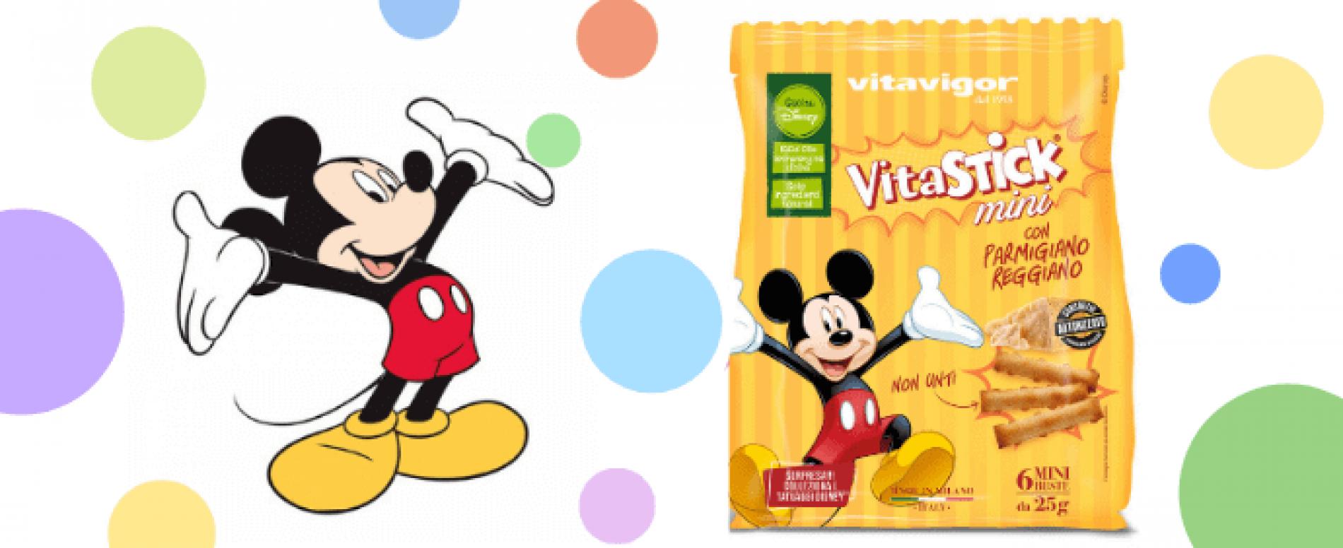 Vitavigor celebra il compleanno di Topolino con una nuova linea di Vitastick