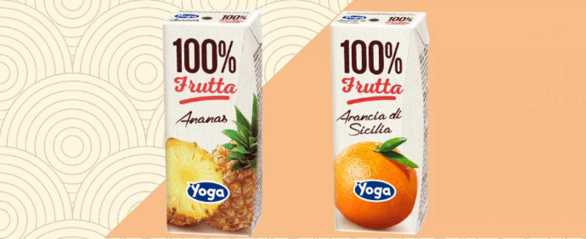 Arriva nel Vending la linea Yoga 100% Frutta