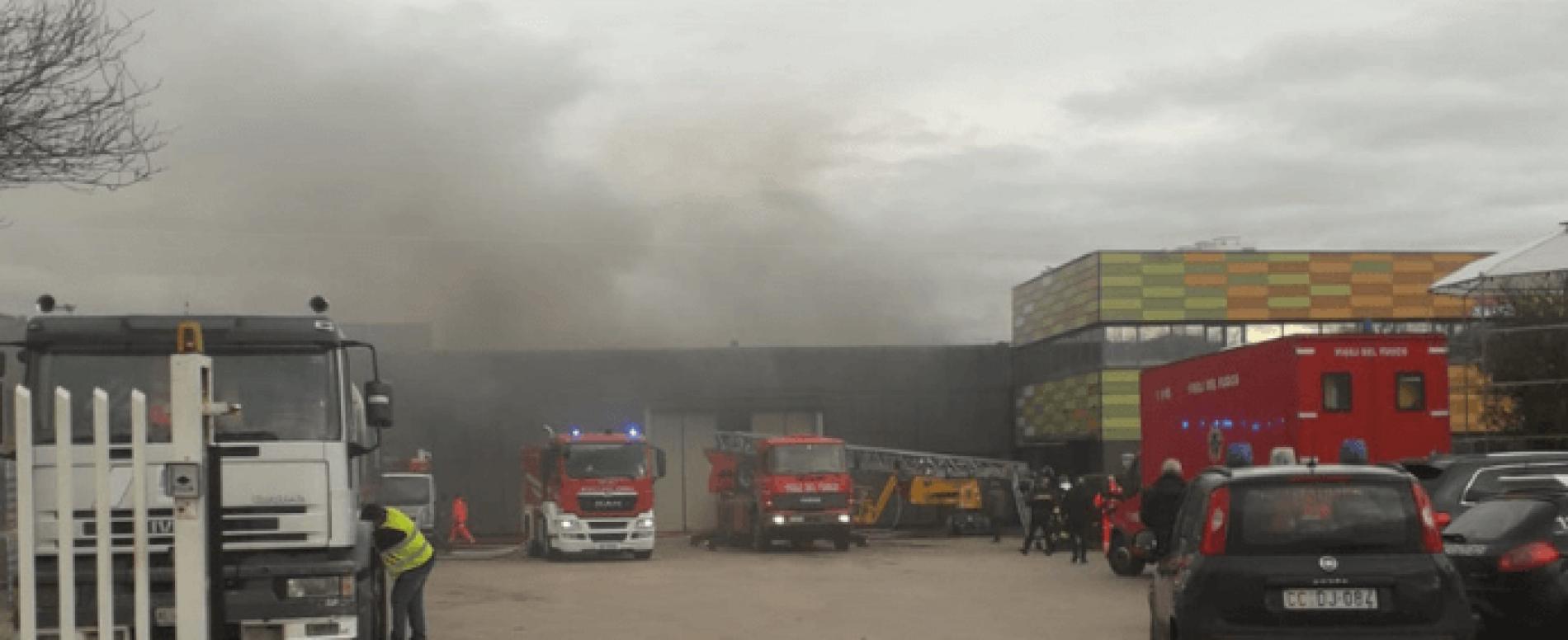 Incendio allo stabilimento Madama Oliva. Ingenti i danni