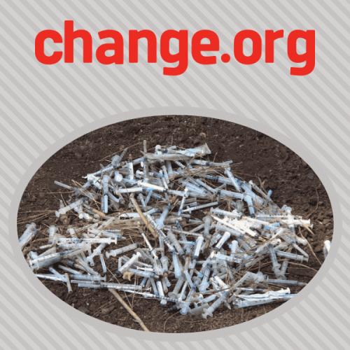 Una petizione del Comune di Perugia per i d.a. scambia siringhe