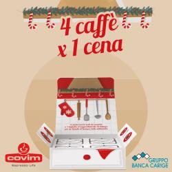 """COVIM e Banca CARIGE insieme per il progetto """"4 caffè x 1 cena"""""""