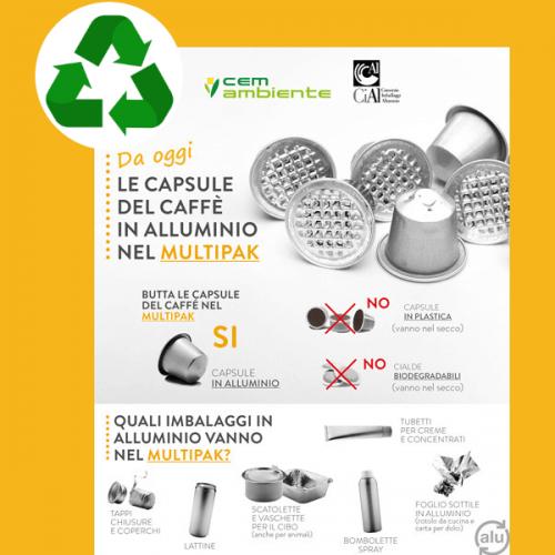 Con CEM Ambiente le capsule di alluminio si riciclano piene di caffè
