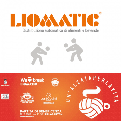 Liomatic organizza una partita di volley per beneficenza