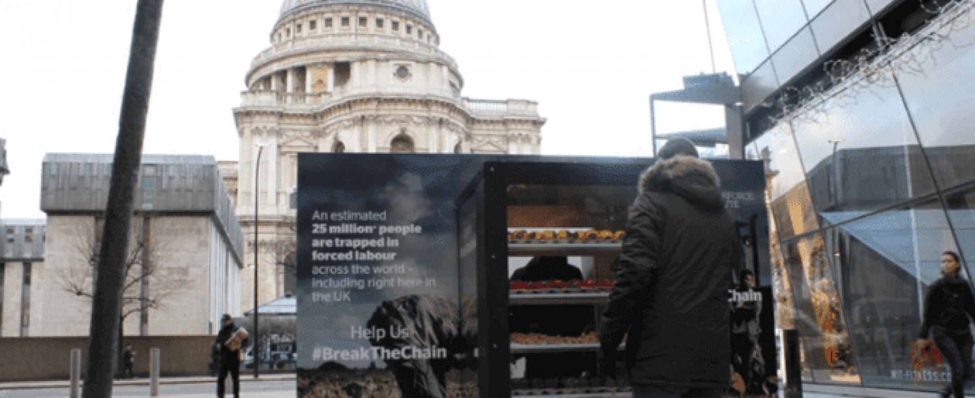 Una vending machine contro ogni forma di schiavitù moderna