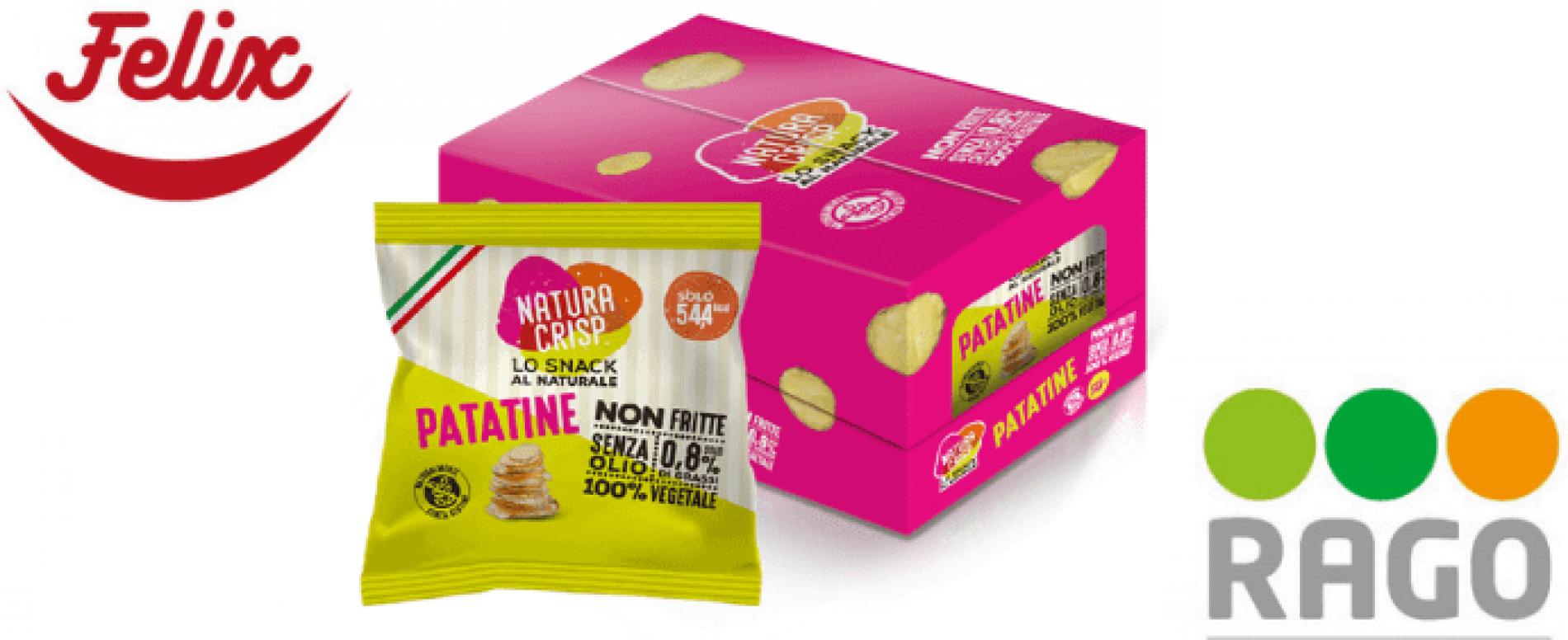 Natura Crisp, le patatine non fritte ideali per il Vending