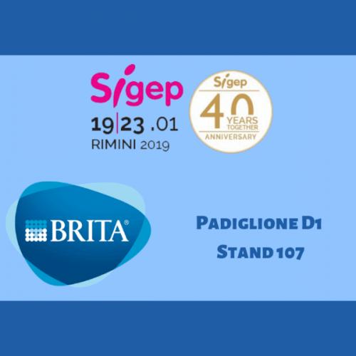 BRITA a Sigep 2019 con un calendario ricco di appuntamenti