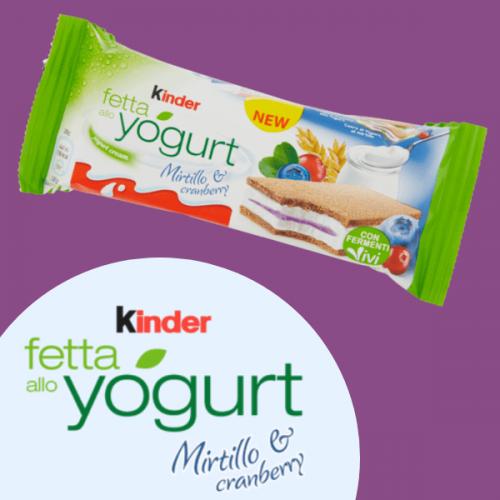 Kinder lancia la nuova Kinder Fetta allo Yogurt Mirtillo & Cranberry