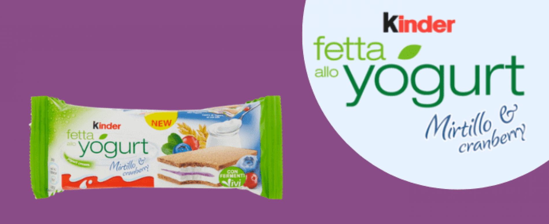 Kinder lancia la nuova Kinder Fetta allo Yogurt Mirtillo & Cranberry