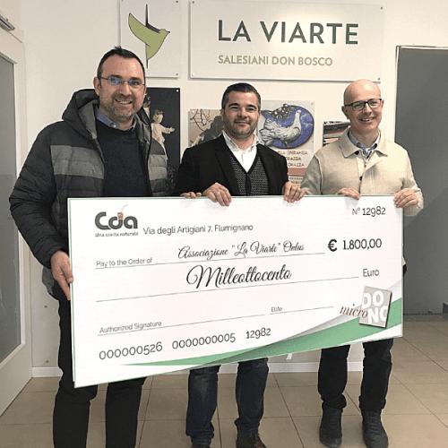 Cattelan Distributori Automatici sostiene l'associazione La Viarte