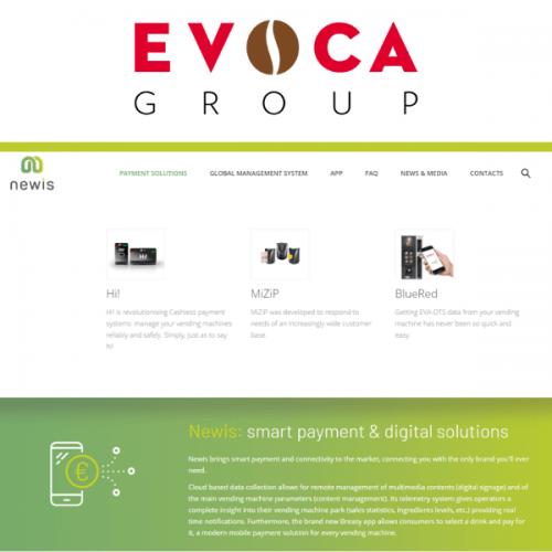EVOCA Group presenta il nuovo sito dedicato ai prodotti Newis